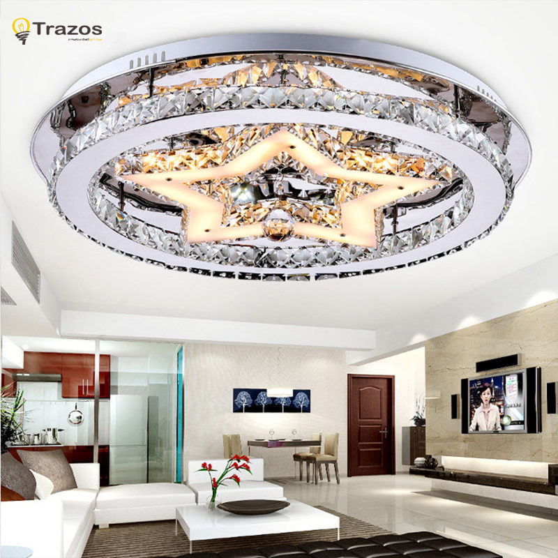 Indoor Led Ceiling Lights For Home Living Room Decor Lighting Lustres De Teto Crystal Star