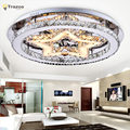 Indoor LED Ceiling Lights for home living room decor lighting lustres de teto crystal star Christmas party surface mount lamp