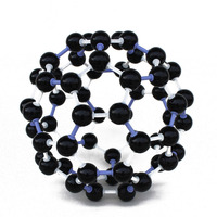 Научный 23 мм Пособия по химии преподавания кристалл углерода 60 C60 Atom Молекулярная модель комплект для студентов детей оптом