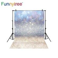 Funnytree bokeh backdrop para estúdio fotográfico Natal Areia brilho inverno auréola photocall photobooth fundo impresso