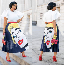 2019 new arrival spring and summer african women elegent plus size skirts