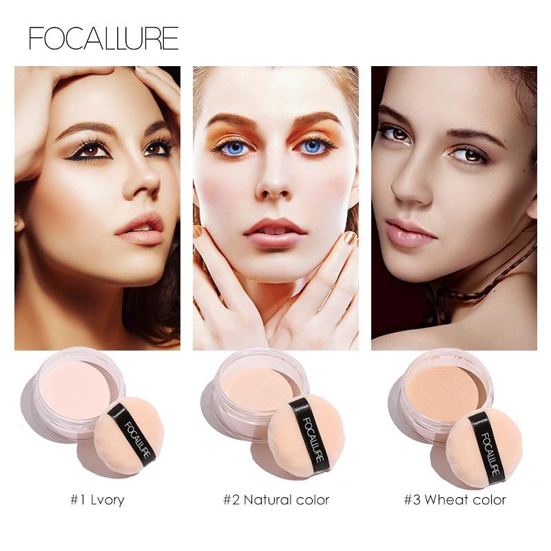ef9b96721 Focallure Face polvos sueltos minerales 3 colores translúcido polvo ...