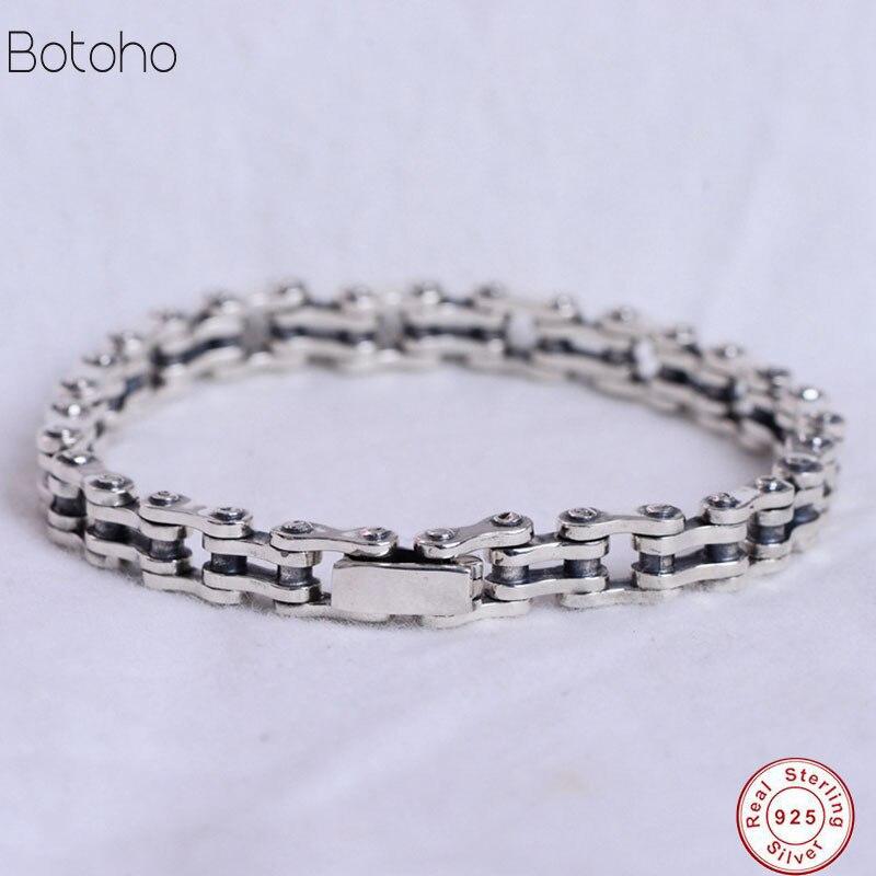 925 bracelet en argent sterling pour hommes chaîne de cyclisme bijoux pour hommes bracelet en argent de haute qualité bijoux de fête pour hommes bracelet à breloques