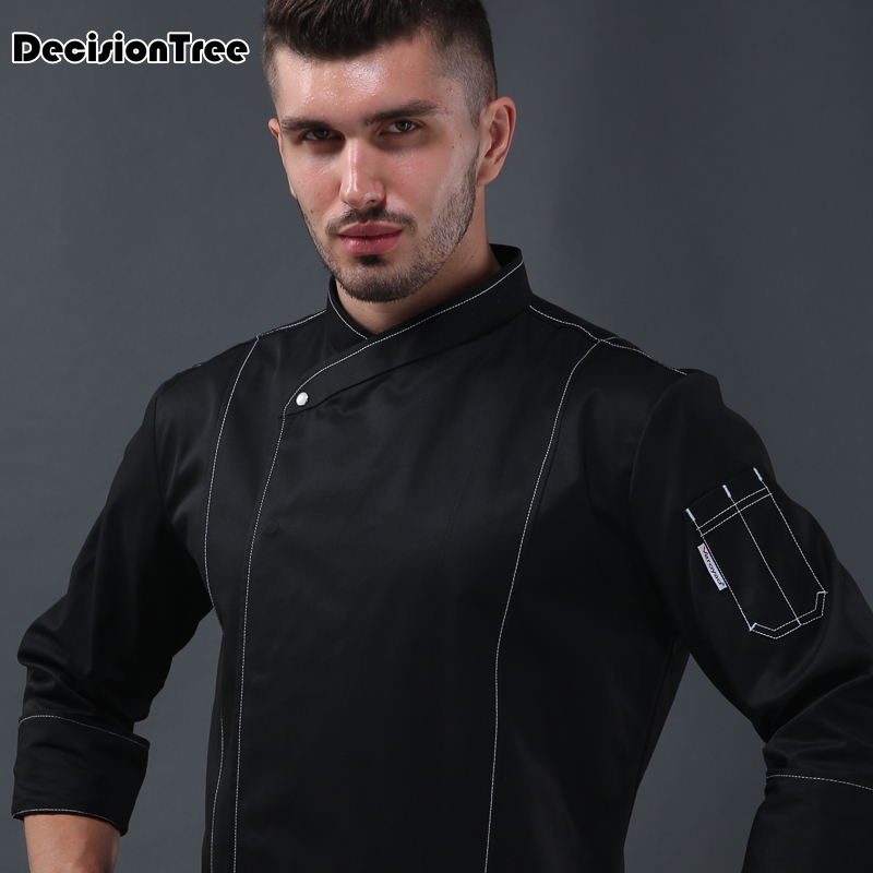 2019 High Quality Chef Uniforms Clothing Full Sleeve Men Food Services Cooking Clothes Big Uniform Jackets Hotel