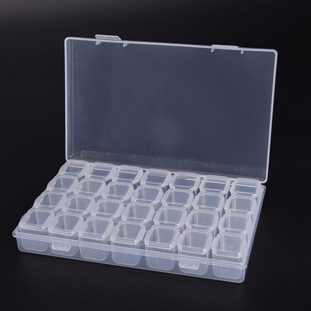 1 pz 28 Singolo Slot Monili di Plastica Pillola Anello Regolabile Strumento Cont