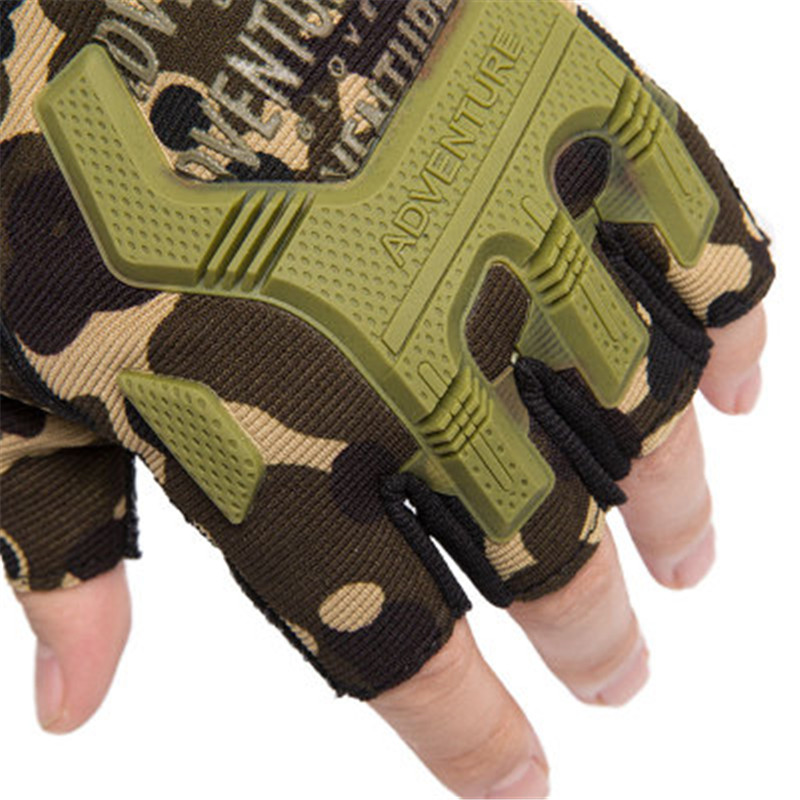 1Pair Gear Military Fingerless Hard Knuckle Tactical Gloves Men Half Finger for Army Sport Driving Shooting Riding Motorcycle 5