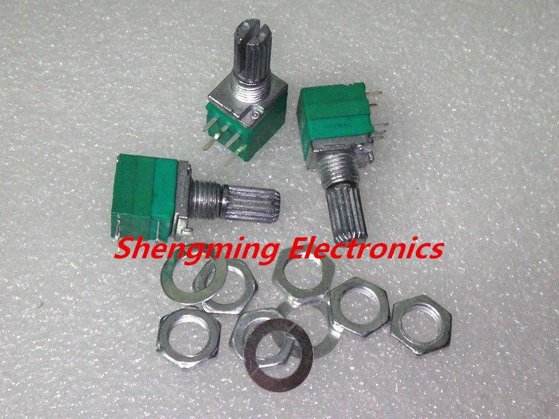 B1K Audio Amplifier Sealed Potentiometer 15mm Shaft 5 pins