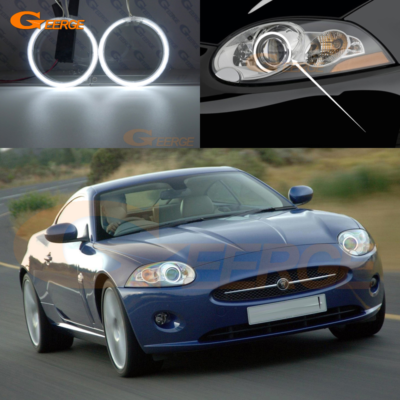 For JAGUAR XK XK8 XKR 2007 2008 2009 2010 2011 xenon headlight Excellent Angel Eyes Ultrabright illumination CCFL Angel Eyes kit