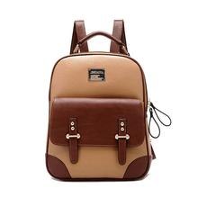 Famous Brand Backpack Women Backpacks Solid Vintage Girls School Bags for Girls Black PU Leather Women Backpack