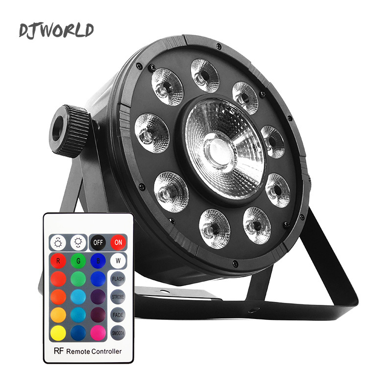 LED Fat Par 9X10W+1X30W RGB Light RGB 3IN1 LED DMX512 Stage Lighting DJ  Party Lights For Event KTV Disco Party Nightclub