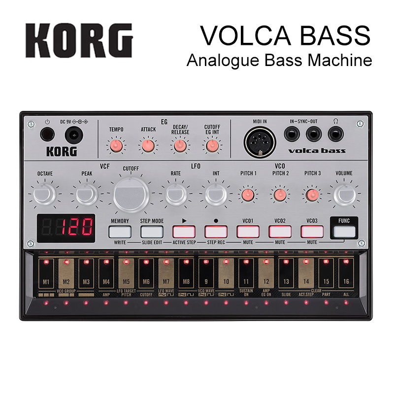 Korg Volca Bass Analog Bass Machine Electribe-Inspired Sequencer for the Ultimate Bass Lines синтезатор korg volca bass