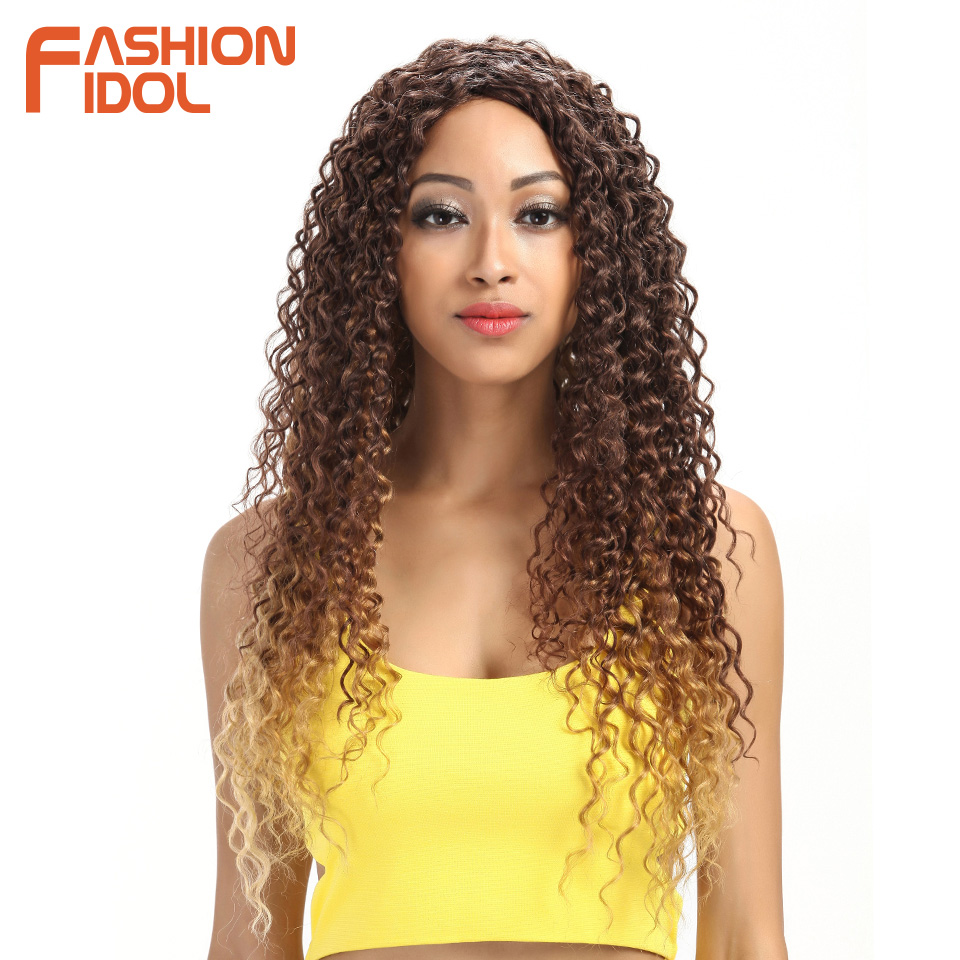 Fashion Idol Synthetic Kinky Curly 26 Long Hair Glueless Wig The
