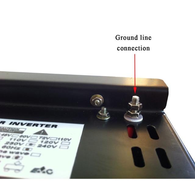 Off Grid 3500W Pure Sine Wave Solar Inverter 24V 220V Car Power Inverter 12V/24V DC to 100V/120V/240V AC Converter Power Supply 6