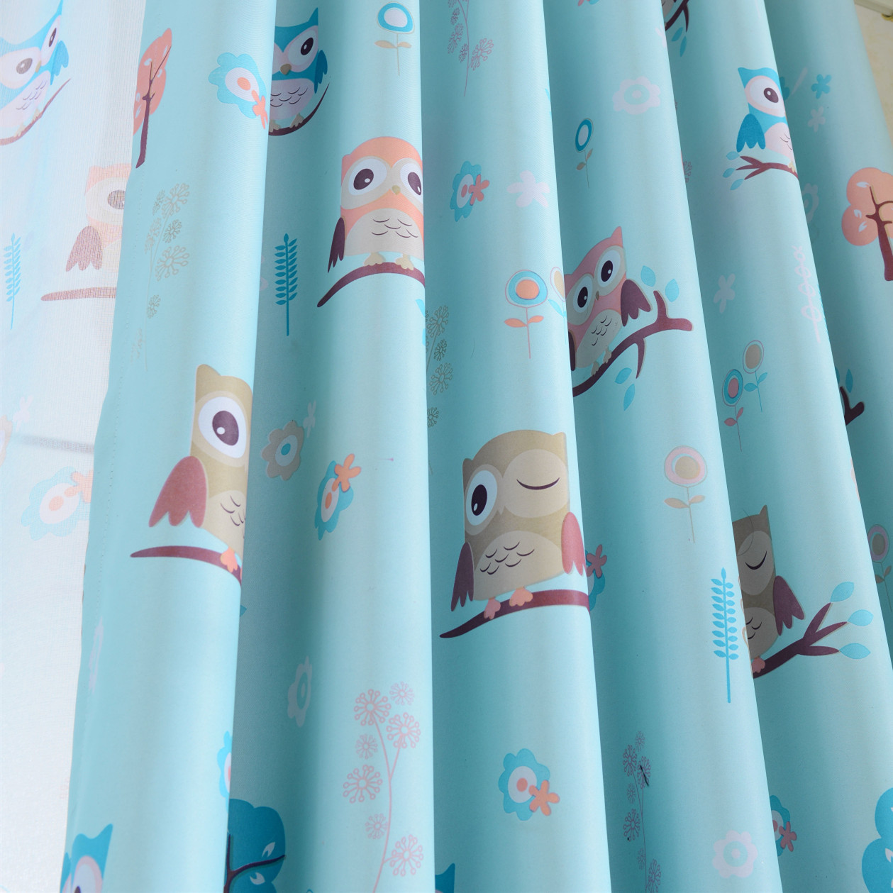 Cartoon Shading Cloth Owl Curtain Finished Curtain Screens Window Blackout  Curtains For Children Kids Bedroom Windows In Curtains From Home U0026 Garden  On ...