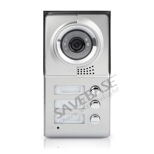 HOMSECUR Apartment Video Handsfree Intercom System 3Pcs 7 Monitors 1 Camera Night Vision