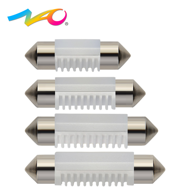 NAO 2x C5W led lamp C10W Festoon 36mm 31mm 39mm 41mm car light bulbs Auto Interior Lamp Dome Reading bulb 12V 3030 SMD White nao 2x c5w led c10w bulb car interior light festoon 31mm 36mm 39mm 41mm smd 3030 cob reading dome lamp 12v 24v 6000k white