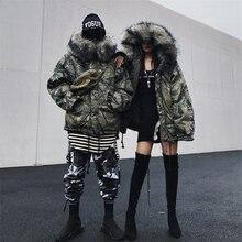 Зимняя куртка для мужчин и женщин, лыжный костюм, светильник, мужская хлопковая одежда для сноуборда, большой размер, принт, камуфляж, корейский стиль