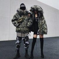Зимняя куртка Для мужчин Для женщин лыжный костюм легкий пуховик мужской одежда из хлопка сноуборд большой Размеры печати камуфляж корейск