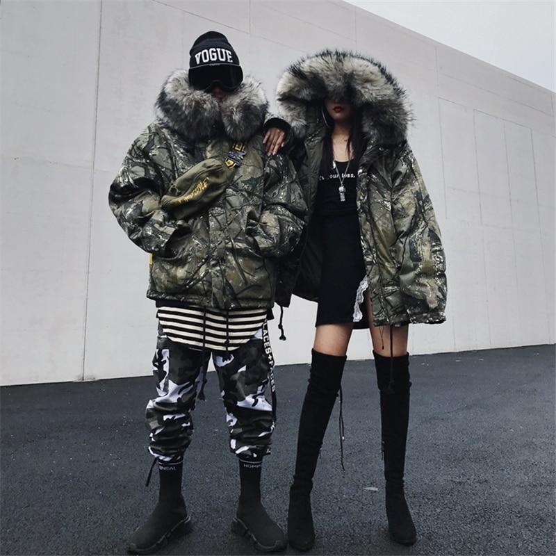 Rivestimento di inverno Degli Uomini Tuta Da Sci Da Donna Luce Imbottiture Maschile Vestiti di Cotone Snowboard di Grandi Dimensioni Modello di Stampa del Camuffamento di stile Coreano