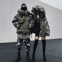Winter Jacket Men Women Ski Suit Light Down Male Cotton Clothes Snowboard Large Size Printing Pattern Camouflage Korean style
