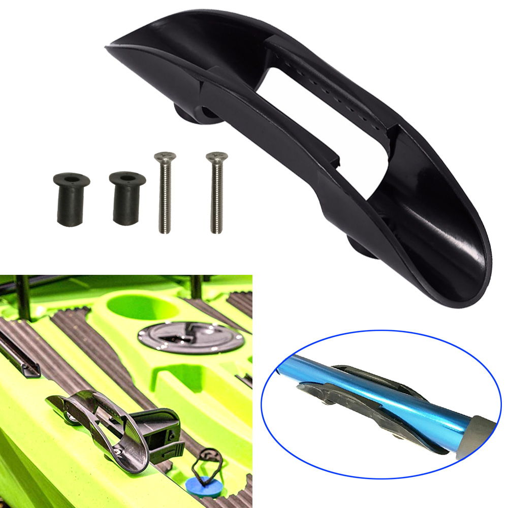 1set 2 Sets Kayak Canoe Paddle Clip Fishing Boat Oars Deck Mounted Holder Paddle Keeper With Screws Nuts