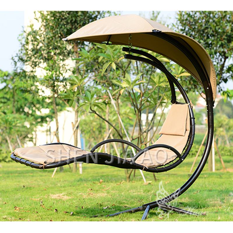 Garden Swing Chair Outdoor Indoors Hammock Rocking Chair Waterproofed Sunshade Hanging Basket Balcony Swing Chair Steel Rod NEW