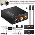 Аудио усилитель конвертера с цифровым и аналоговым разъемом 3 5 мм  декодер с оптическим волоконным коаксиальным сигналом к аналоговому ауд...