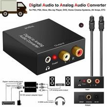 цена на 3.5mm Jack Digital To Analog Audio Converter Amplifier Decoder Optical Fiber Coaxial Signal To Analog RCA L/R Audio Adapter
