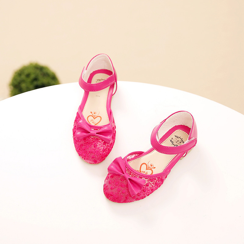 Children Princess Glitter Sandals Kids Girls Soft Shoes Tollder Sandalias Flat Summer Shoes Bow Girls Shoes Children Sandals