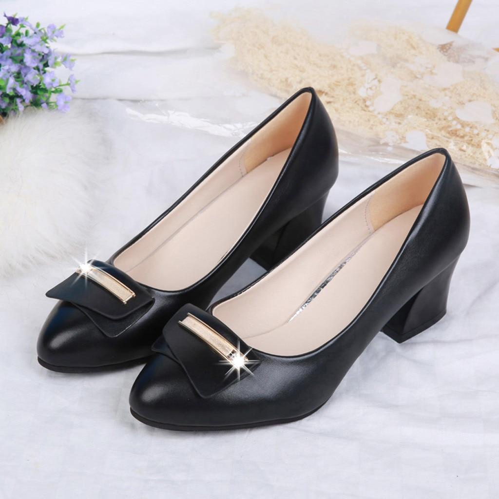Printemps Dame noir Sapato Métal Carré Pointu Feminino Belle Femmes Chaussures Talon En Vogue Beige Orteil Pompes Bureau gt7naxOq