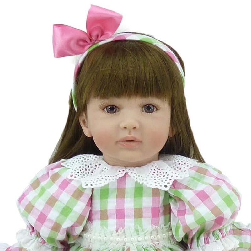 """22 """"เจ้าหญิงตุ๊กตาซิลิโคนนุ่ม Bebe Reborn ทารกตุ๊กตา Handmade เด็กวัยหัดเดินเด็กตุ๊กตาบ้านเด็กเล่นของเล่น-ใน ตุ๊กตา จาก ของเล่นและงานอดิเรก บน   2"""