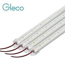 4 шт. 50 см светодиодный светильник 5730 5630 36 светодиодный s DC12V Жесткая светодиодная лента барный светильник 5730 с U алюминиевым корпусом+ крышка из поликарбоната