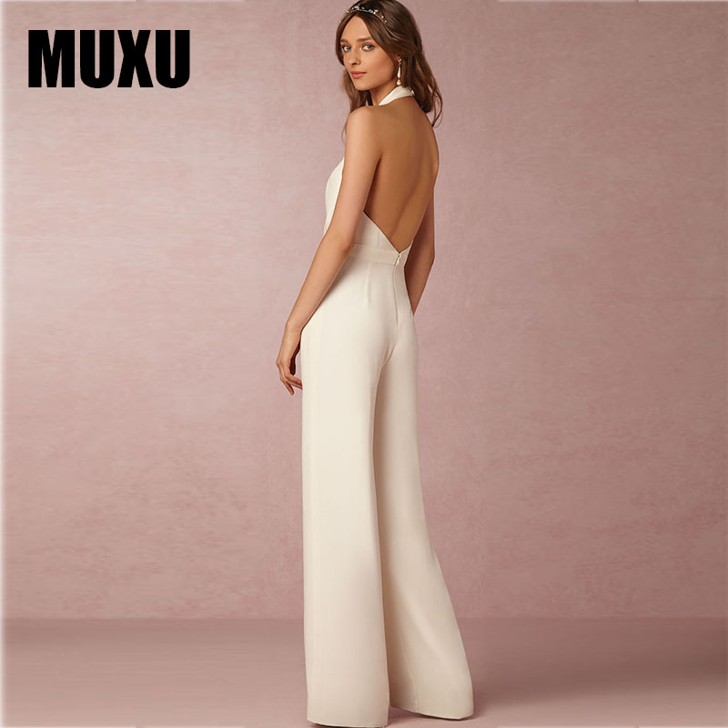 be61badf5b4e combinaison femme body feminino combishort long jumpsuit women sexy white  jumpsuit for women wide leg jumpsuit plus size rompers