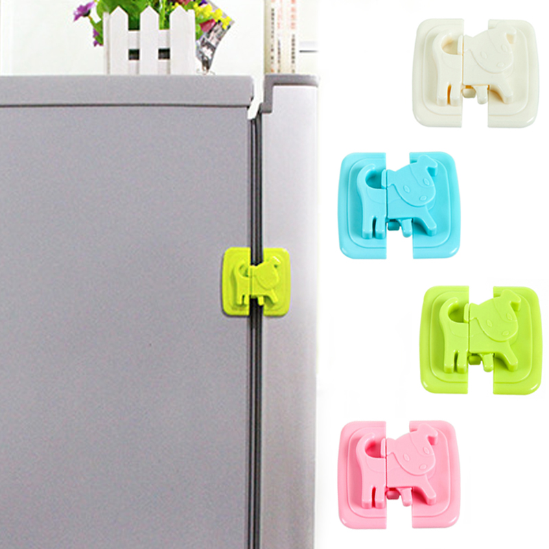 4 Colors Baby Safety Cartoon Shape Kids Baby Care Safety Security Cabinet Locks & Straps Products For Fridge Door Cabinet Locks