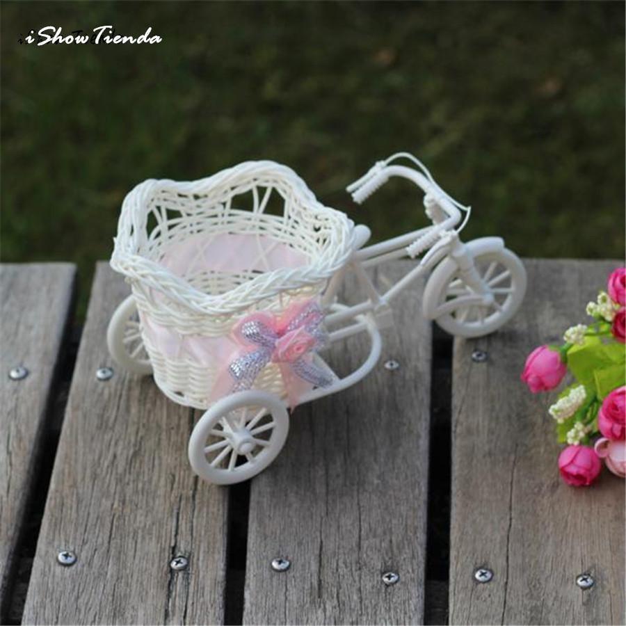 Rattan Woven Carrying Basket Flower Fruit Holder Container Wedding Decor Sweet