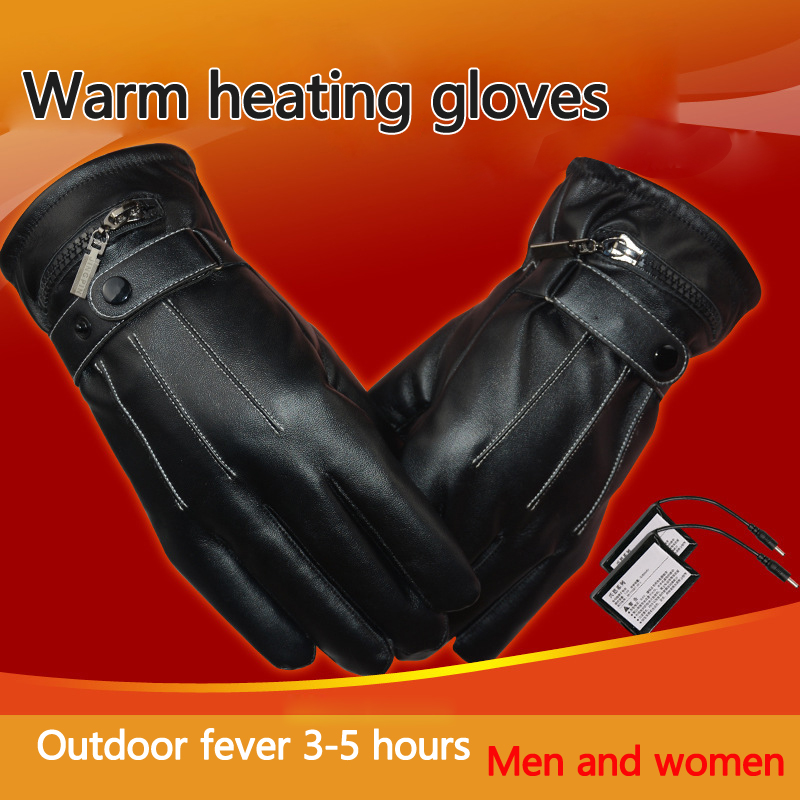 Gants chauffants électriques à écran tactile chaud d'hiver gants de Ski moto à doigt complet avec chargeur US pour les Sports de plein air