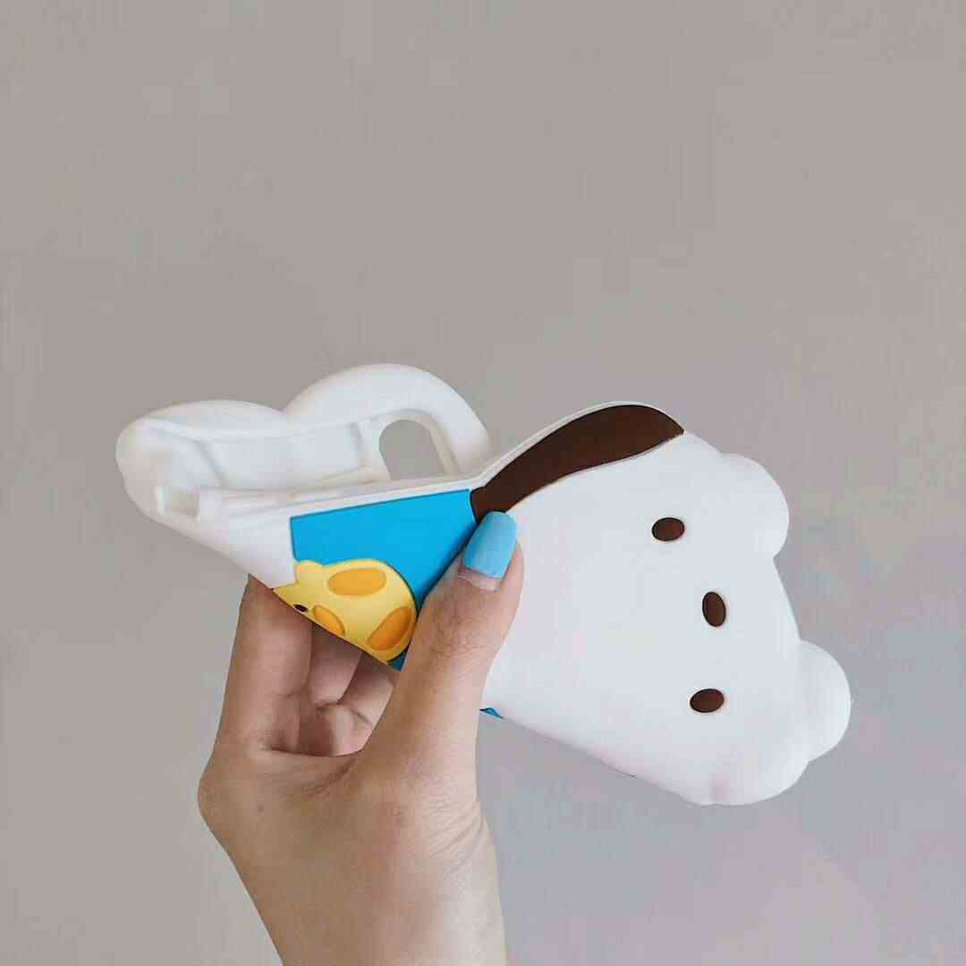 Мультяшный 3D Кот Мелодия пудинг собака милый ремешок чехол для iPhone X XS MAX XR 6 6s 7 8 Plus для силиконовой задней крышки