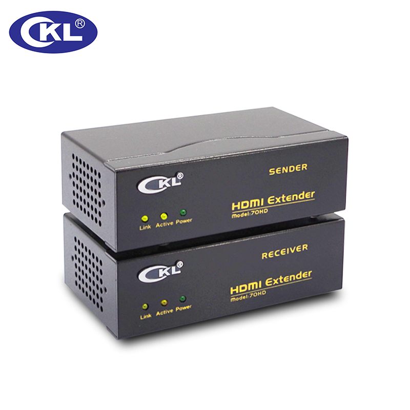 CKL-70HD 70M (230 Ft) HDMI Extender over Cat6e cable Supports 4K*2K 3D hsv379 hdmi extender over coax cable full hd 1080p hdmi over single rg59 rg 6u coaxial cable extender for dvr dvd home theater