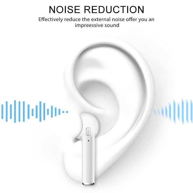 I7 TWS Twins słuchawki Bluetooth sport zestaw słuchawkowy Bluetooth z mikrofonem zmiana pudełko na Xiaomi bezprzewodowy słuchawki do iPhone'a Apple