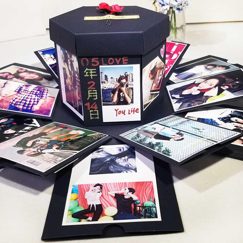 Explosion Box Handmade Boom Gift DIY Album Scrapbooking Birthday Valentines With Accessories Kit