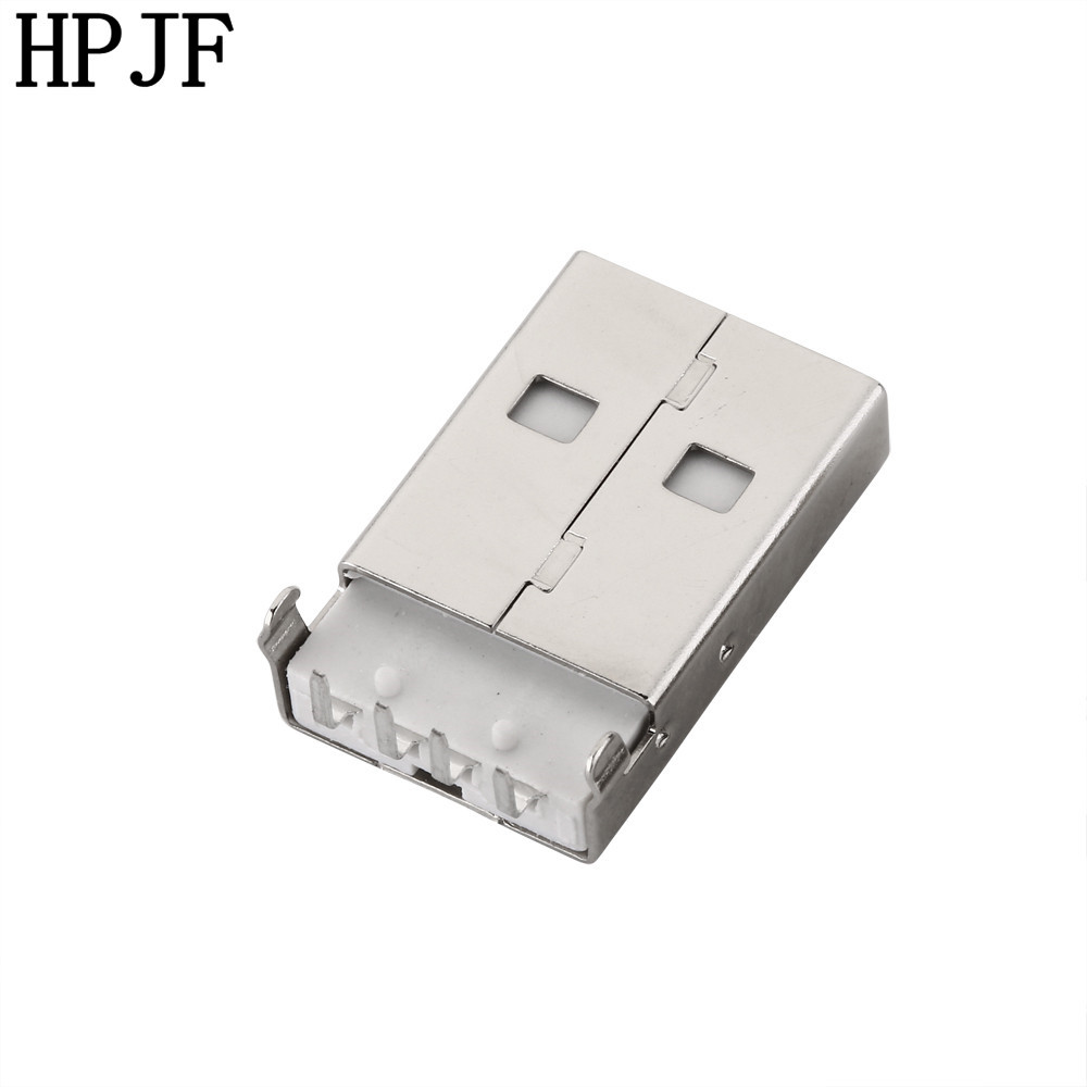 20pcs USB 2.0 Male A Type Connector Plug Right Angle 90 degree DIP FO