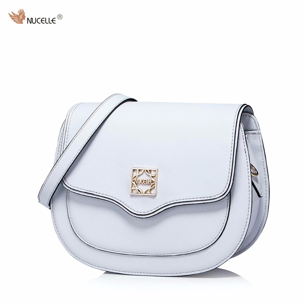 93362e45d514 NUCELLE Brand New Design Fashion Retro Cow Leather Women Ladies Shoulder  Crossbody Saddle Bags