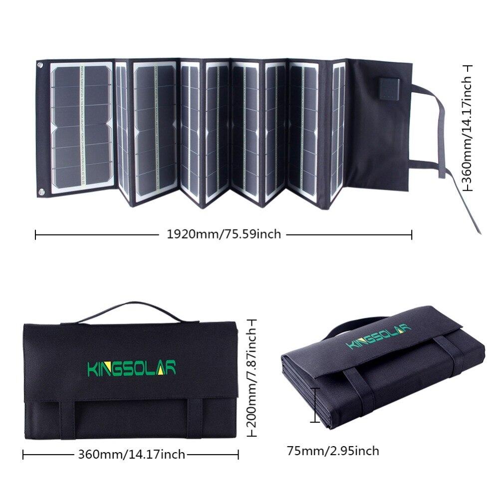 80Watt portable Folding Solar Panel Charger with fluorescence for font b laptop b font phone 18v