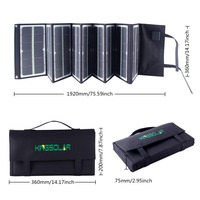 80Watt portable Folding Solar Panel Charger with fluorescence for laptop,phone, 18v laptops and 12v car battery Solar charger