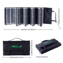 Factory 80Watt portable Folding car battery solar panel charger with fluorescence for laptop battery phone tablet