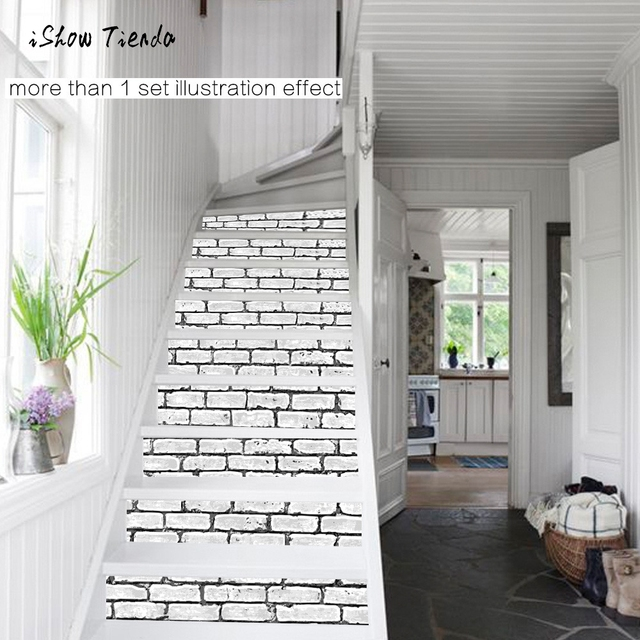 Fashionable Home Decor Diy Steps Sticker Brick Wall Style Removable