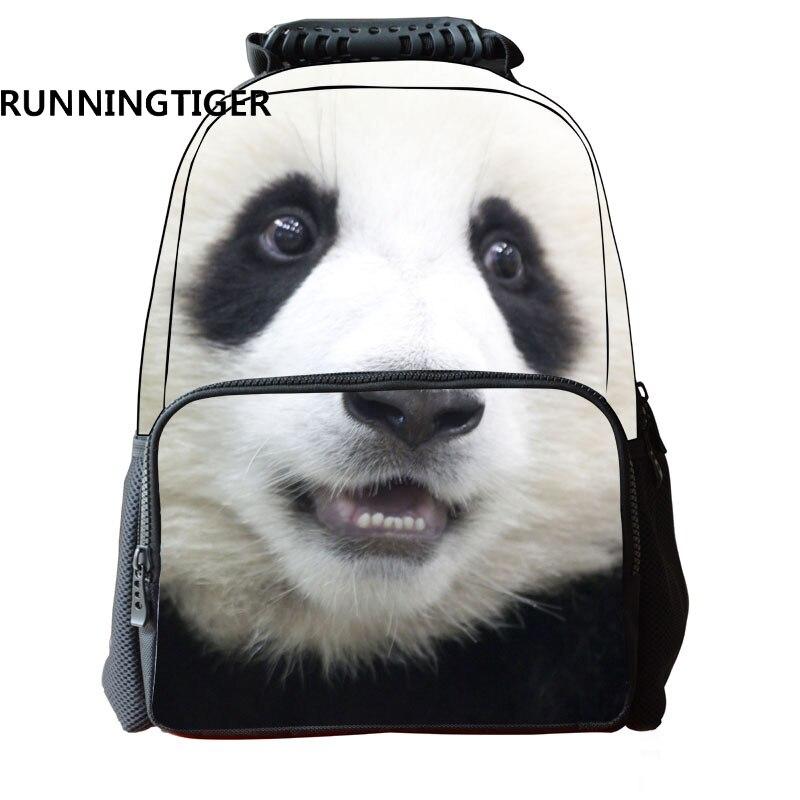 где купить RUNNINGTIGER School Bags For Boys 3D Cute Panda Printing Men Backpack Fashion Backpacks For Teenagers по лучшей цене