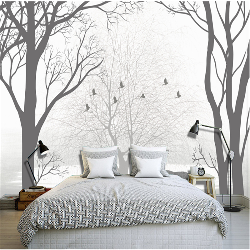 Contact Paper Custom Bird Wallpaper and Elk Elegant Thickened Embossed Non-Woven Modern Bedroom Wall Paper Roll for Living Room beibehang flower wallpaper roll non woven wall paper 3d paper contact for living room birds wall paper roll home decoration