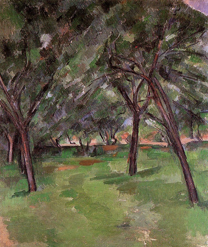 Paul Cezanne Olieverf Reproductie op linnen doek, a close 1890, gratis Verzending, handgemaakte, Museum kwaliteit