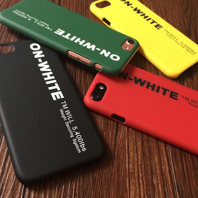 <font><b>Off</b></font> On <font><b>White</b></font> Phone Bags <font><b>Cases</b></font> for <font><b>iPhone</b></font> SE 5SE 6 S 6s <font><b>7</b></font> 8 Plus Xs Cover Matte PC <font><b>Case</b></font> coque for iPhone5 iphone6 capinha funda image